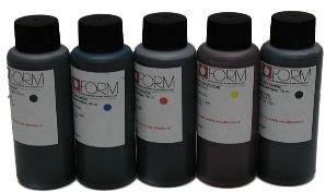 2500 ml essbarer Tinte, bestehend aus 1000 ml schwarze & 500 ml je Cyan, Magenta Yellow - für den Einsatz in der Originalchip Standardpatronen wiederbefüllbar Patronen oder RE-Setter (Papier Essbare Und Tinte)