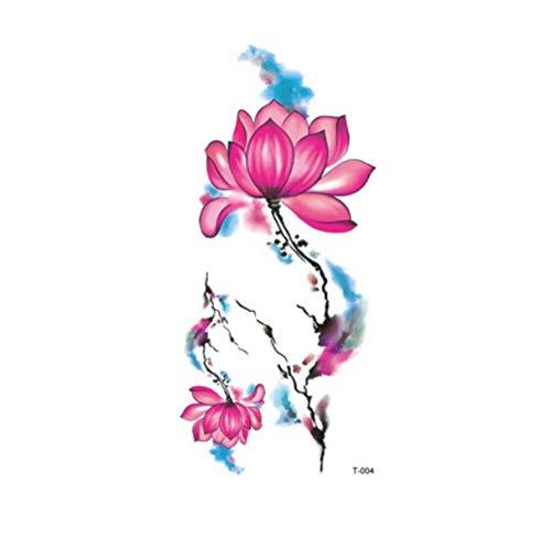 ruofengpuzi Wassertransfer Fake Tattoo Blume Lotus Eichhörnchen Katze Schneeflocke Smiley Tattoo Wasserdicht Temporäres Flash Tattoo T Erwachsenes Kind