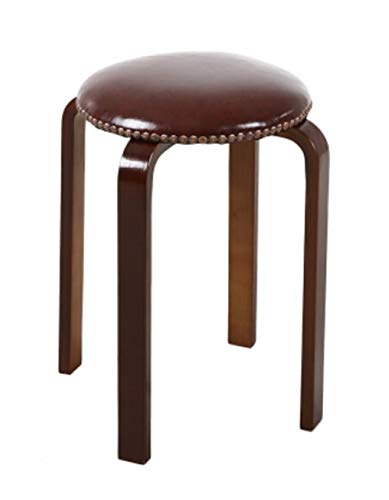 HongTeng Hocker Home Fashion Massivholz jetzt runder Hocker Esstisch Hocker 320x450x400mm (Color : Brown) -