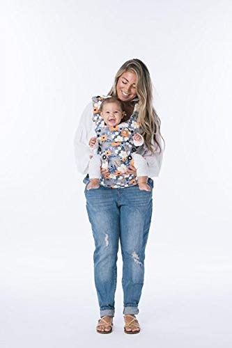 Baby Tula Explore Baby Carrier 3.2 - 20.4 kg, Adjustable Newborn to Toddler Carrier, Multiple Ergonomic Positions, Front and Back Carry, Easy-to-Use, Lightweight - French Marigold, Blue-Gray Floral Tula EVERY CARRY POSITION YOUR BABY WILL NEED, INCLUDING OUTWARD FACING: Multiple positions to carry baby including front facing out*, facing in, and back carry. Each position provides a natural, ergonomic position best for comfortable carrying that promotes healthy hip and spine development for baby. INNOVATIVE BODY PANEL WITH AN EASY-TO-ADJUST DESIGN: Adjusts in three width settings to find a perfect fit as baby grows from newborn to early toddlerhood. PADDED, ADJUSTABLE NECK SUPPORT PILLOW: Can be used in multiple positions to provide head and neck support for newborns and sleeping babies. 3