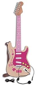 Bontempi - 1371 - Guitarra eléctrica con micrófono y Toma MP3, Color Rosa, 24 1371