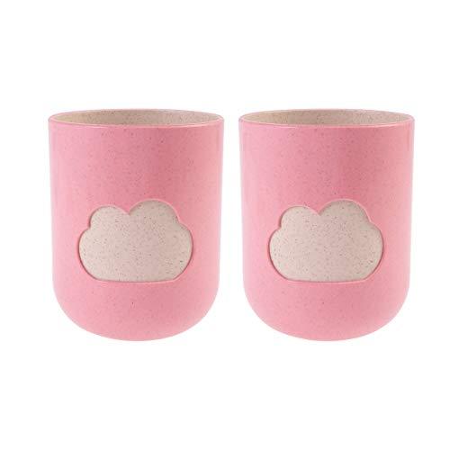 TOPBATHY 2 Piezas Taza de Vaso de baño patrón de Nube Taza Dental irrompible Taza de baño para niños Taza de Cepillo de Dientes para baño en casa