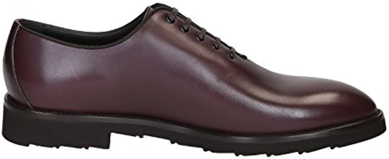 Dolce & Gabbana Hombre A20017AC46580308 Burdeos Cuero Zapatos De Cordones -