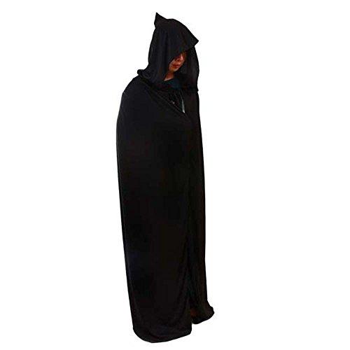 Teufel Stilvolle Kostüm - MMRM Halloween-Teufel-Kostüm Umhang Black Death Kapuzenshirt Cape Partei Cosplay Prop