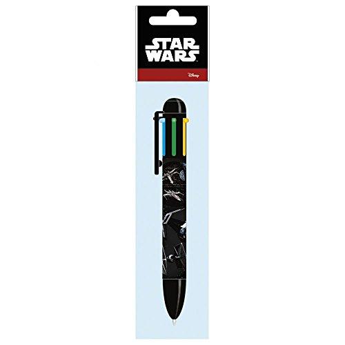 Maxi & Mini-Star Wars Darth/Vader Yoda Kugelschreiber 6Farben Schreibschrift, Idee Geschenk (Cars Mini Lego)