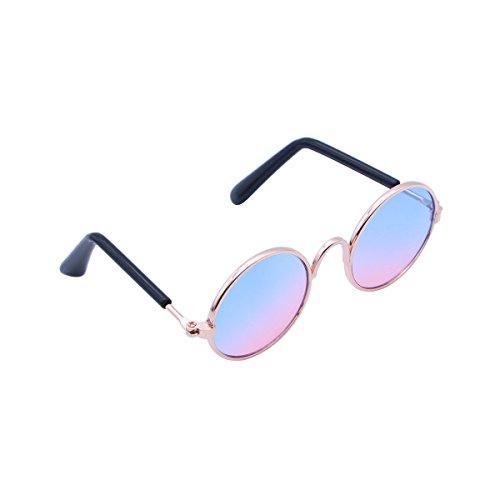 UEETEK Haustier Hund Brille UV Sonnenbrille Katze Brille Sonnenbrille Brillen Fotos Requisiten (lila)