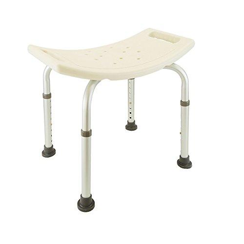Newsbenessere.com 31gtUNCbcQL Cablematic – Sgabello da doccia ergonomico regolabile in altezza