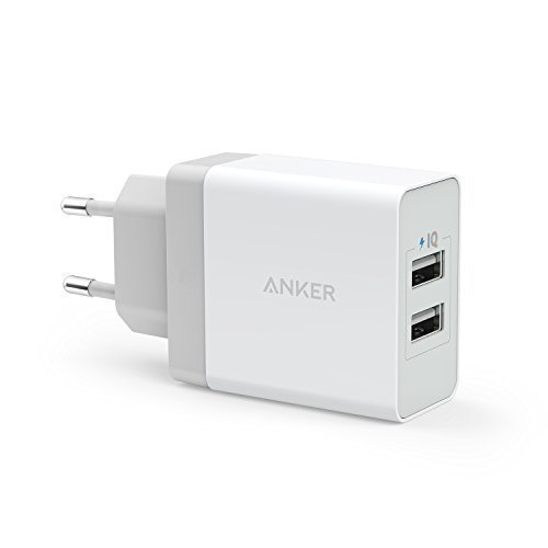 Anker 24W 2 Port USB Ladegerät mit PowerIQ Technologie, Reise Ladegerät für iPhone, iPad, Samsung Galaxy, Note, Nexus, HTC, Motorola, LG, Xiaomi und weitere (Weiß) (Ipad Air-usb-adapter Apple)