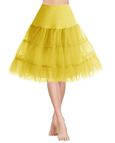 Gardenwed 1950er Vintage Rockabilly Kurz Organza Petticoat Reifrock Unterrock Underskirt Ballet Tanz...