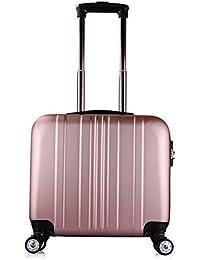 b18db2c2a Meters_x Maleta con Ruedas ABS pequeña Maleta sin Equipaje Bolsa de  embarque de Equipaje Oro Rosa