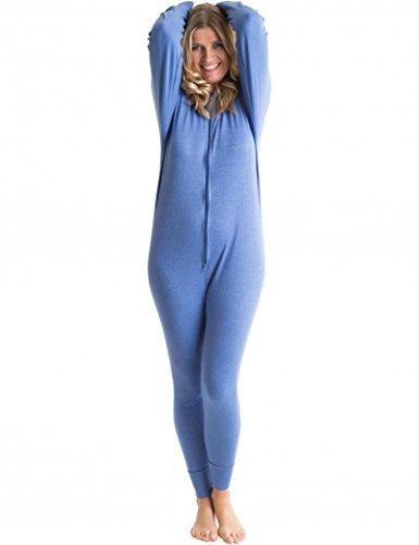 Unterwäsche All in One Union Anzug/Thermo Body XXL blau (Union Anzüge Für Erwachsene)