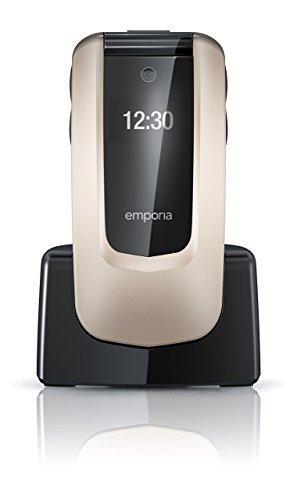emporia flip basic f220 emporia V66_001_CP Klappenhandy, bedienfreundlich, 2MP Kamera, Notruffunktion champagner