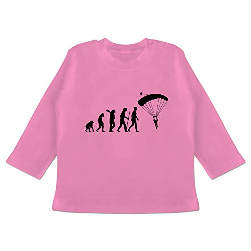 Evolution Baby - Fallschirmspringen Evolution - 18-24 Monate - Pink - BZ11 - Baby T-Shirt Langarm