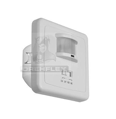 Drehflex® Einbau Wand Bewegungsmelder 2 Draht-Technik UP für 220-240Volt AC von Drehflex® bei Lampenhans.de