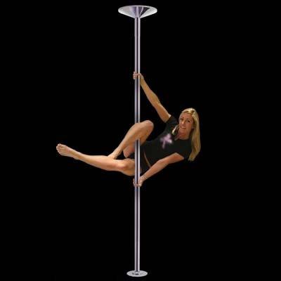 HAC24 Hochwertige Tanzstange Edelstahl 45 mm Pole Dance Gogo Strip Stange Professionelle Massive Version für 2 Pers. KEIN Bohren