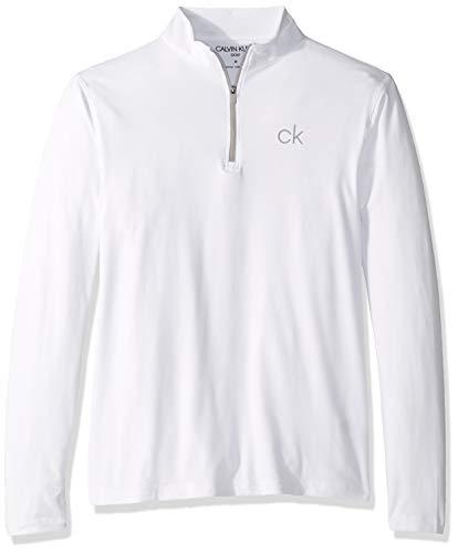 Calvin Klein Herren Newport Half Zip Golf-T-Shirt, weiß, X-Groß