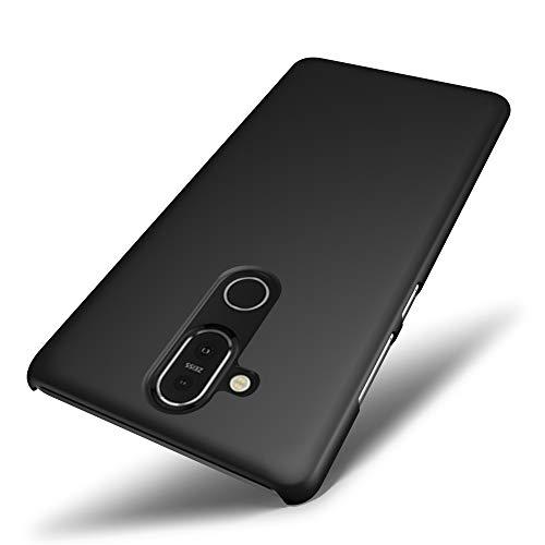 SLEO Hülle für Nokia 8.1/Nokia X7,Hart PC [Robuste Schutzhülle] Handyhülle Tasche Schlank Schale Hard Case Cover für Nokia 8.1/Nokia X7 Hülle- Schwarz