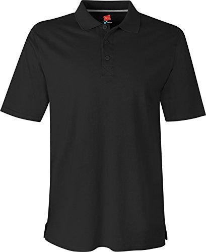 Hanes - Maglietta sportiva - Maniche corte  -  uomo nero - nero