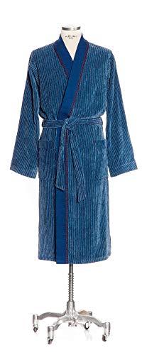 möve Denim Kimono Längsrippe Velours in Gr. M aus 100 % Baumwolle, denim -