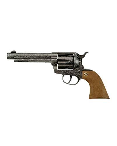 Samuel Colt revolver 12 colpi Realistico rivoltella guardando cowboy come accessorio costume Che cosa sarebbe il selvaggio West senza pistole fumatori e pistoleslingers. Il nome Colt per una pistola risale al suo inventore Samuel Colt, che è consider...