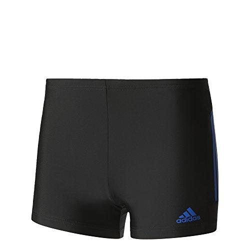 adidas Herren Essence Core 3-Streifen Boxer Badehose, Black/Blue, 6, 50, M, 6