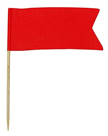 50 Solid Red Blank Toothpick Flags Dinner Flag Picks Cocktail