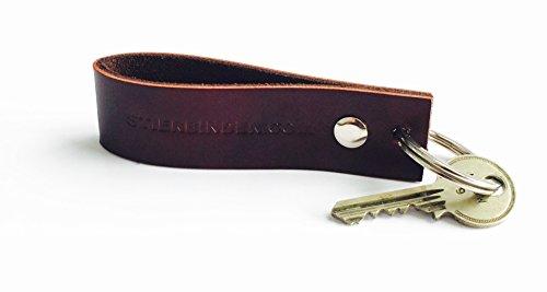 Echt-Leder Schlüsselanhänger aus Kalbsleder, PERSONALISIERBAR z.B. als Geschenk (Kalbsleder-schlüsselanhänger)