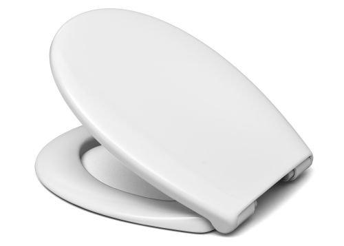 Cedo WC Sitz Bondi Beach, weiß mit Absenkautomatik Softclose Classic®, abnehmbar mit Takeoff Original® Abnahmefunktion; aus Duroplast für ovale Keramiken mit Befestigung von