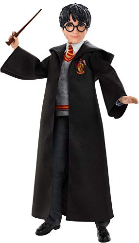 Harry Potter Poupée articulée de 26 cm en uniforme Gryffondor en tissu avec baguette magique, à collectionner, jouet enfant, FYM50