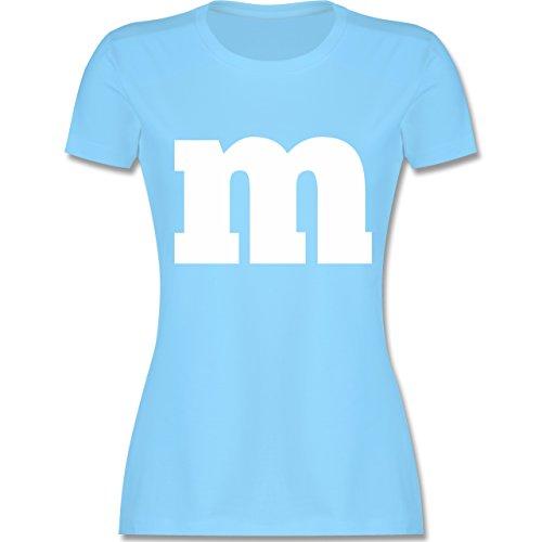 Ideen Eine Gruppe Gute Kostüm Für - Karneval & Fasching - Gruppen-Kostüm m Aufdruck - S - Hellblau - L191 - Damen Tshirt und Frauen T-Shirt