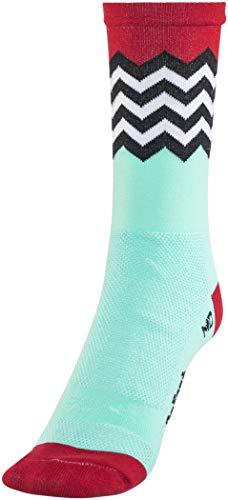 Defeet Hi Rouleur Aireator Fuse Single-Bund Socken Blau/Rot/Schwarz/Weiß Schuhgröße XL | EU 46-48 2019 Fahrradsocken -