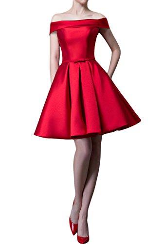 Donna Ivydressing A-linea lieb Ling U-apertura a partire dalla spalla vestito da sera abito da festa Rot