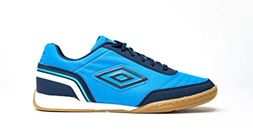 Umbro Futsal Street V, Scarpe da Calcetto Indoor Uomo, Blu (Ibiza Blue/Dark Navy/White Gz9), 42.5 EU