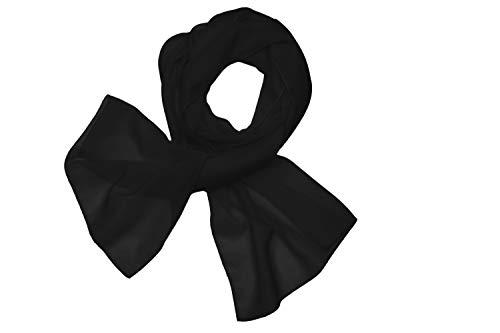 HAT YOU Halstuch Damen/Sommertuch/Chiffon Schal/Tuch für Frühling und Sommer/Ganzjährig - Made in Italy, Chiffon Tuch:Black