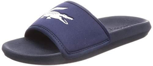 Lacoste Men's Croco 119 3 CMA Slip On Slide Navy/White-Navy-9 Size 9