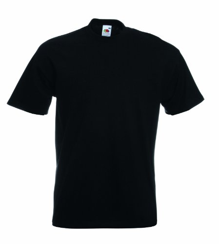 Fruit Of The Loom Herren Super Premium Kurzarm T-Shirt Schwarz - Schwarz