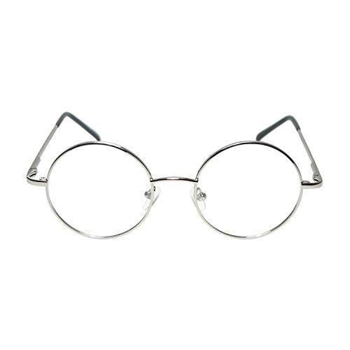 Erwachsene/Kinder rund gold oder silber Oma Kostüm Brillen (Welt Buch Woche / Buch (Für Oma Kostüme Kinder)