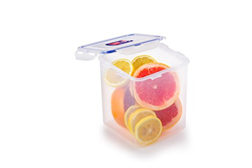 Lock & Lock Square  Storage Container - Clear/Blue, 2.6 L