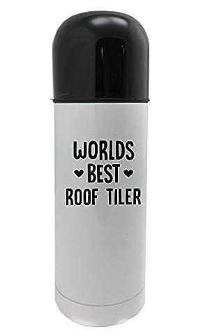 World's best Roof Tiler white thermos