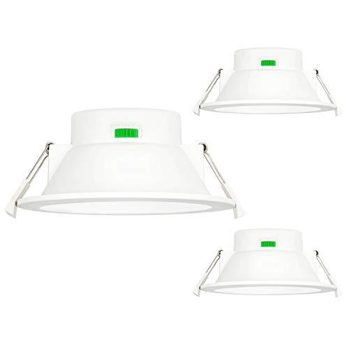 12W LED Einbauleuchten Deckenleuchten Einbaustrahler Flach Decke Bad Dimmbar Deckenloch 120-140MM Durchmesser Warmweiß 3000K und Kaltweiß 5000K 3er Lampen von Enuotek
