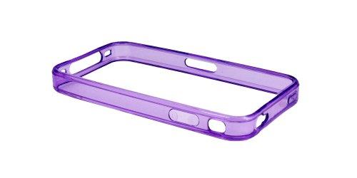 Luxburg® Elegante gepolsterte Pull Tab Stoff Schutzhülle Tasche Case für Apple iPhone 4 / 4S /4G - Grün Bumper - Lila