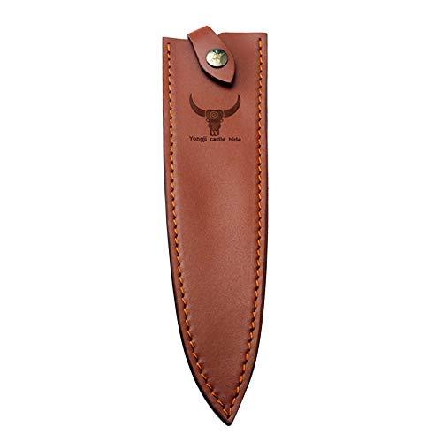 Leder Jagdmesser Scheide Fixed Blade Messer Scheide Tragbare Messer Schutz Jagdmesser Klinge Kantenschutz Messer Abdeckung (L)