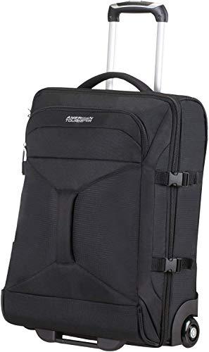 American Tourister - Road quest bolsa de viaje con ruedas, 40 Litros, negro sólido black, S 55cm-40L...
