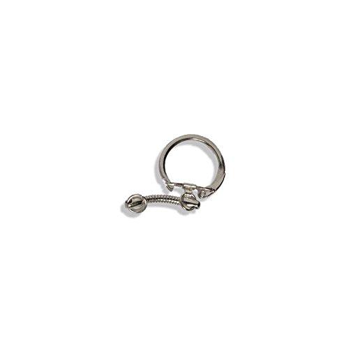 Chrome Key Rings 2pk