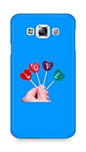 Amez designer printed 3d premium high quality back case cover for Samsung Galaxy E7 (Super Love Candie in Hand)