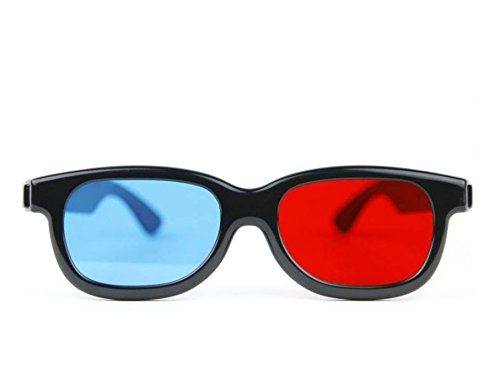 Mintus 3D Glasses Cyan Red Anaglyph 3D Glasses Pack of 1 Video Glasses (Black)  available at amazon for Rs.99