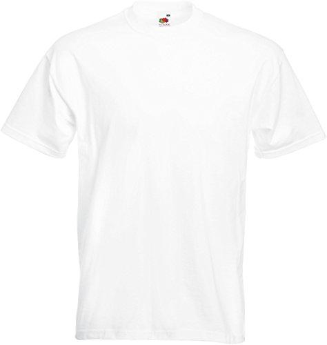 Fruit Of The Loom 61044 Mens Short Sleeve Super Premium T-Shirt Tee White