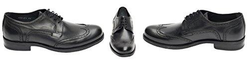 Muga Hommes chaussures à lacets Budapest-1422- Noir