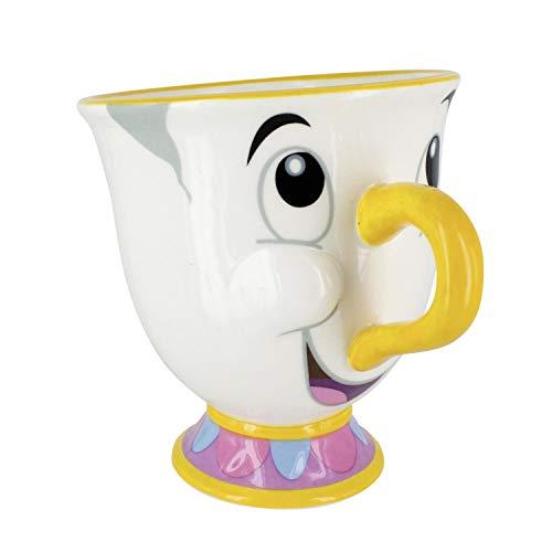 (Close Up Die Schöne und Das Biest Tasse Tassilo - Weiß, Bedruckt, aus Porzellan, Fassungsvermögen ca. 225 ml.)