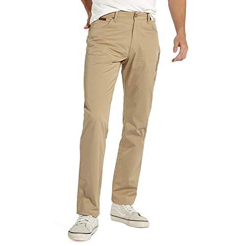 Wrangler Herren Texas Stretch Chino Twill Regular Fit Straight Leg Zip Fly W121OO335 - Corn - Korn, W38 - L32 -
